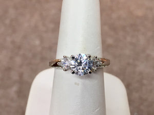 14 K Gold Engagement Ring Mounting (Center Diamond Sold Separately)
