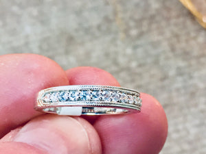 14 k White Gold Diamond Anniversary Wedding Ring