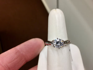 14 K Gold Engagement Ring Mounting