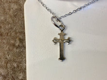 Load image into Gallery viewer, Silver Cross Pendant With Silver Chain Religious