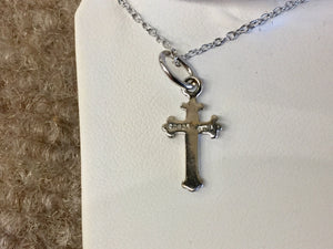 Silver Cross Pendant With Silver Chain Religious