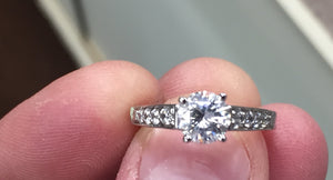 Diamond Engagement Ring Mounting 14 k Gold