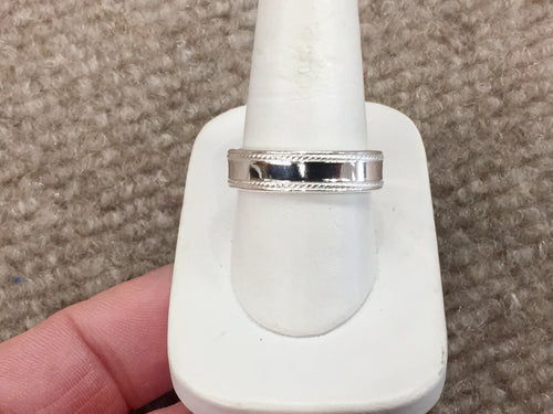 Silver Men's Wedding Ring