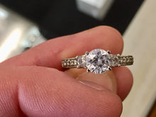 Load image into Gallery viewer, Diamond Engagement Ring Mounting 0.29 Carats