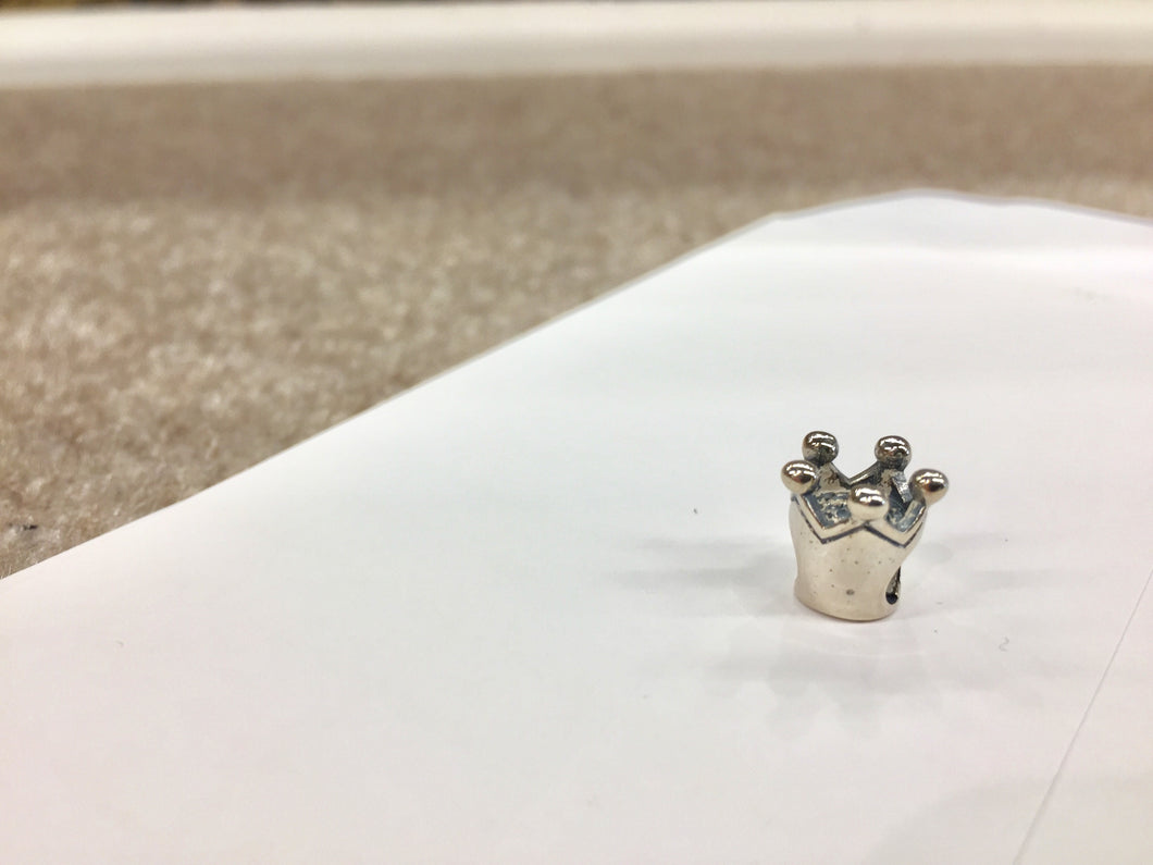 Silver Crown Bead