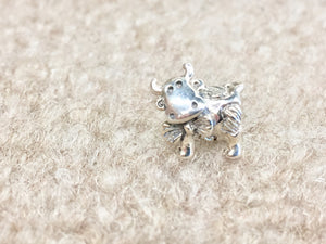 Cow Silver Bead