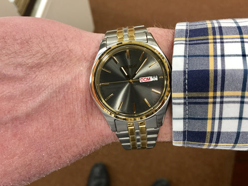 Men's Seiko Watch With Day And Date