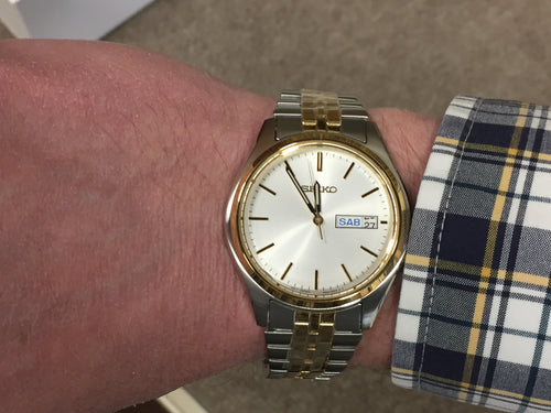 Seiko Gold And Silver Color Men's Watch