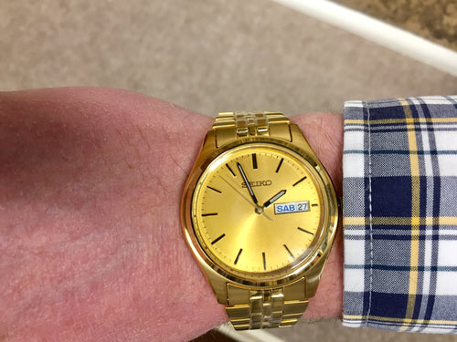 Seiko Gold Color Men's Watch