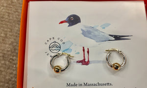 Cape Cod Gold And Silver Hoop Earrings