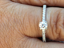 Load image into Gallery viewer, Diamond Engagement Ring .38 Carats 14 K White Gold
