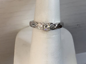 Diamond Engagement Ring .20 Carats White Gold