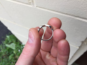 Silver Diamond Infinity Ring