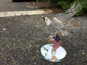 U.S.A Bald Eagle Glass Figurine