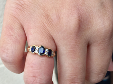 Load image into Gallery viewer, Sapphire And Diamond 14 K Yellow Gold Ring