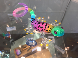 Gecko Glass Figurine