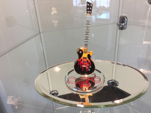Load image into Gallery viewer, Guitar Heat Glass Figurine With Swarovski Crystals