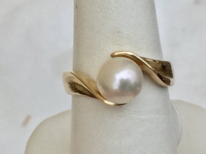 Pearl 14 K Yellow Gold Ring