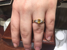 Load image into Gallery viewer, Yellow Sapphire And Diamond 14 K Yellow Gold Ring