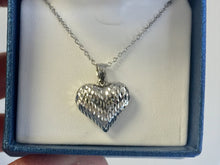 Load image into Gallery viewer, Sterling Silver Heart Pendant And Adjustable Chain