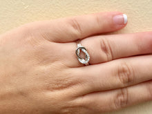 Load image into Gallery viewer, 14 K White Gold Diamond Love Knot Ring