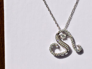 14 K White Gold Shimmer Diamond Heart Pendant