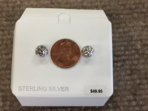 Sterling Silver 8 Millimeter Ball Stud Earrings