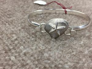 Starfish On Clam Silver Convertible Bracelet