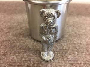 Teddy Bear Baby Pewter Cup