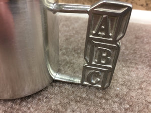 ABC Pewter Baby Cup