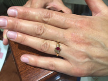 Load image into Gallery viewer, Ruby And Diamond 14 K Gold Ring