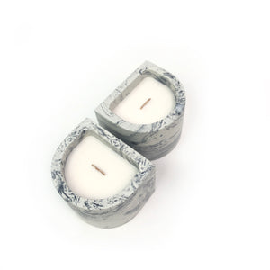 Arch Candle - Light Marble