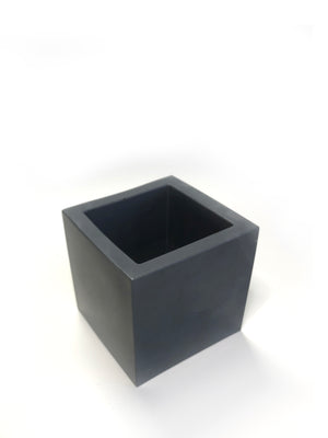 Medium Square Planter - Dark Charcoal