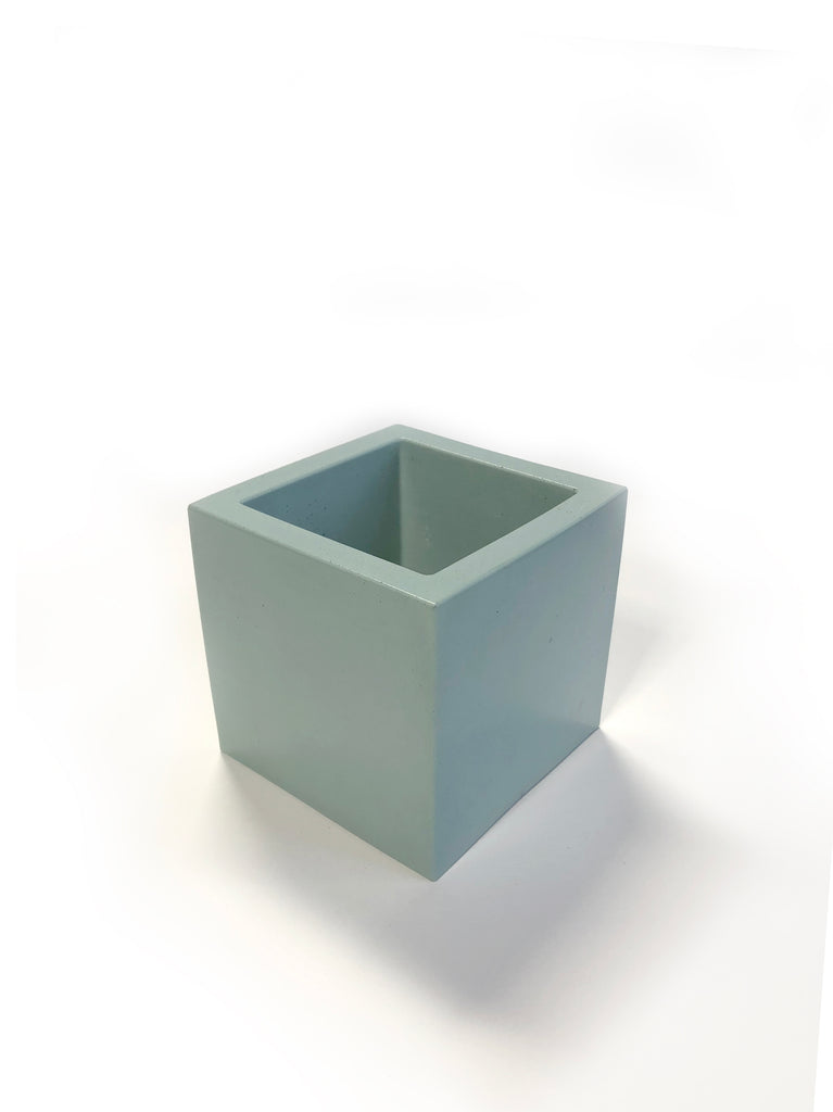 Medium Square Planter - Mint