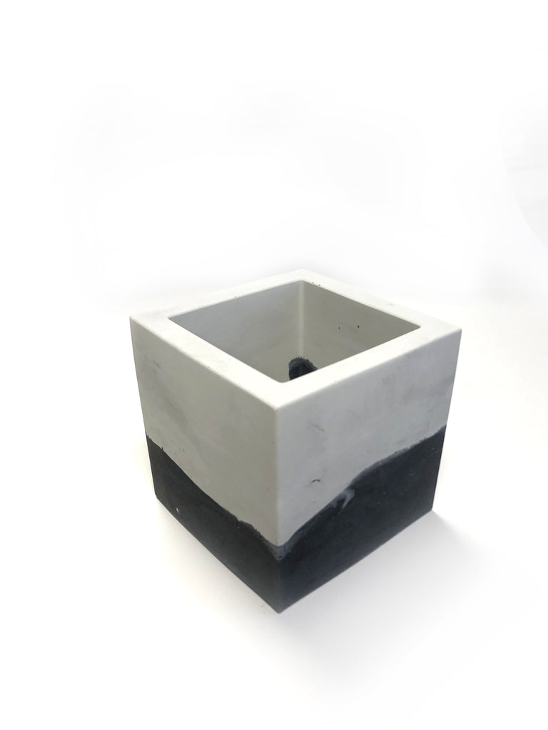 Medium Square Planter - Two Toned