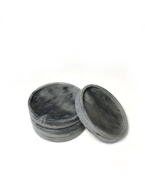 Round Coasters (set of 4) - Dark Marbled