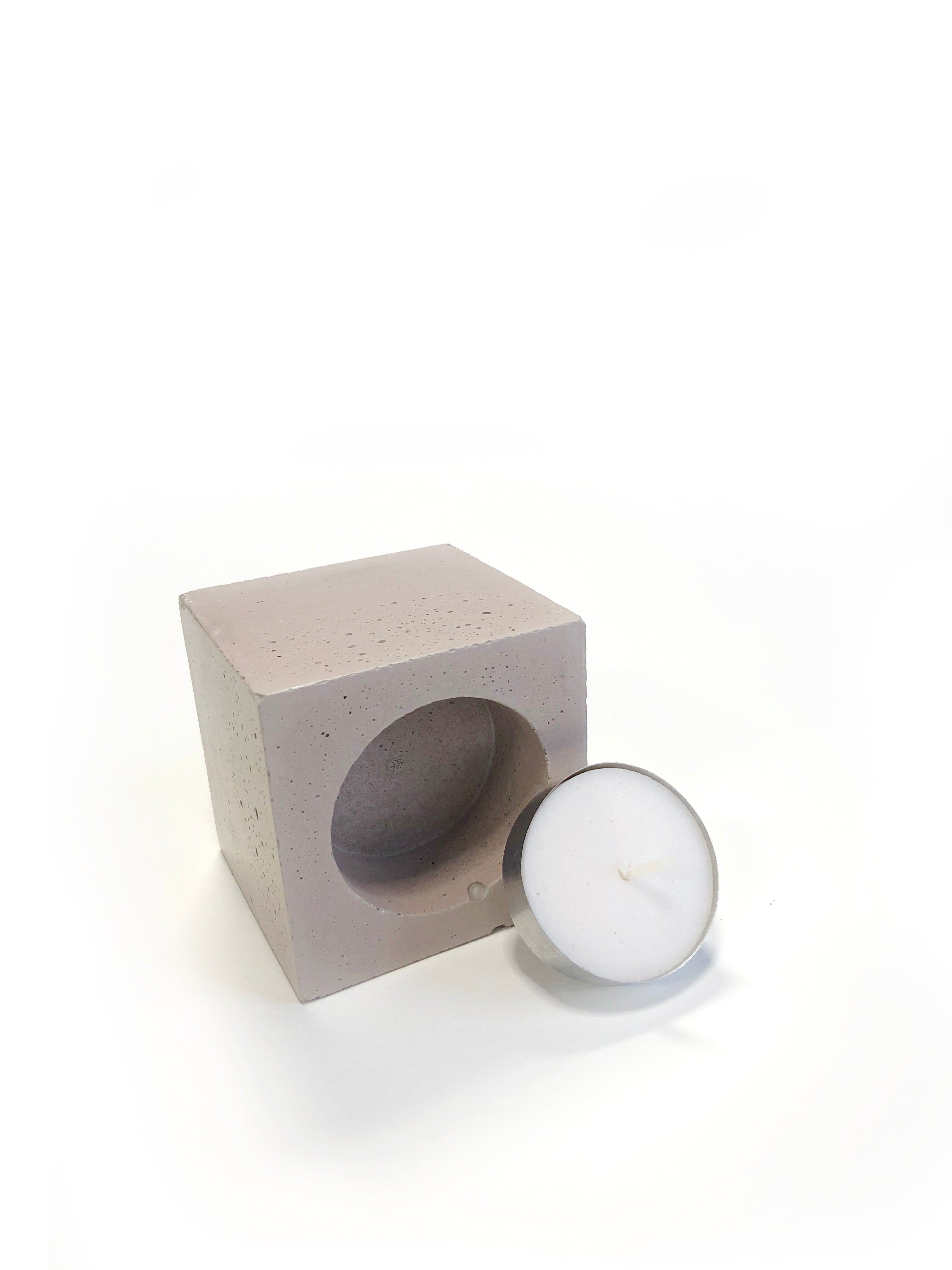 Square Tea Light Candle - Blush