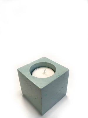 Square Tea Light Candle - Mint