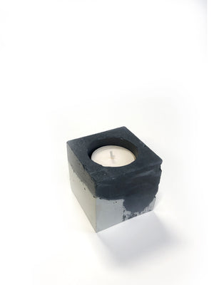 Square Tea Light Candle - Painted