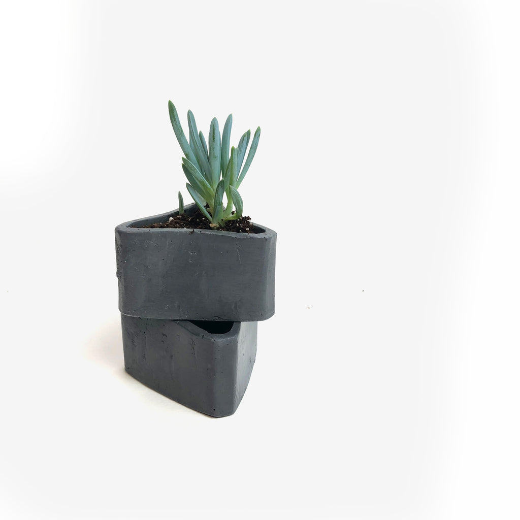 Small Triangle Planter - Charcoal