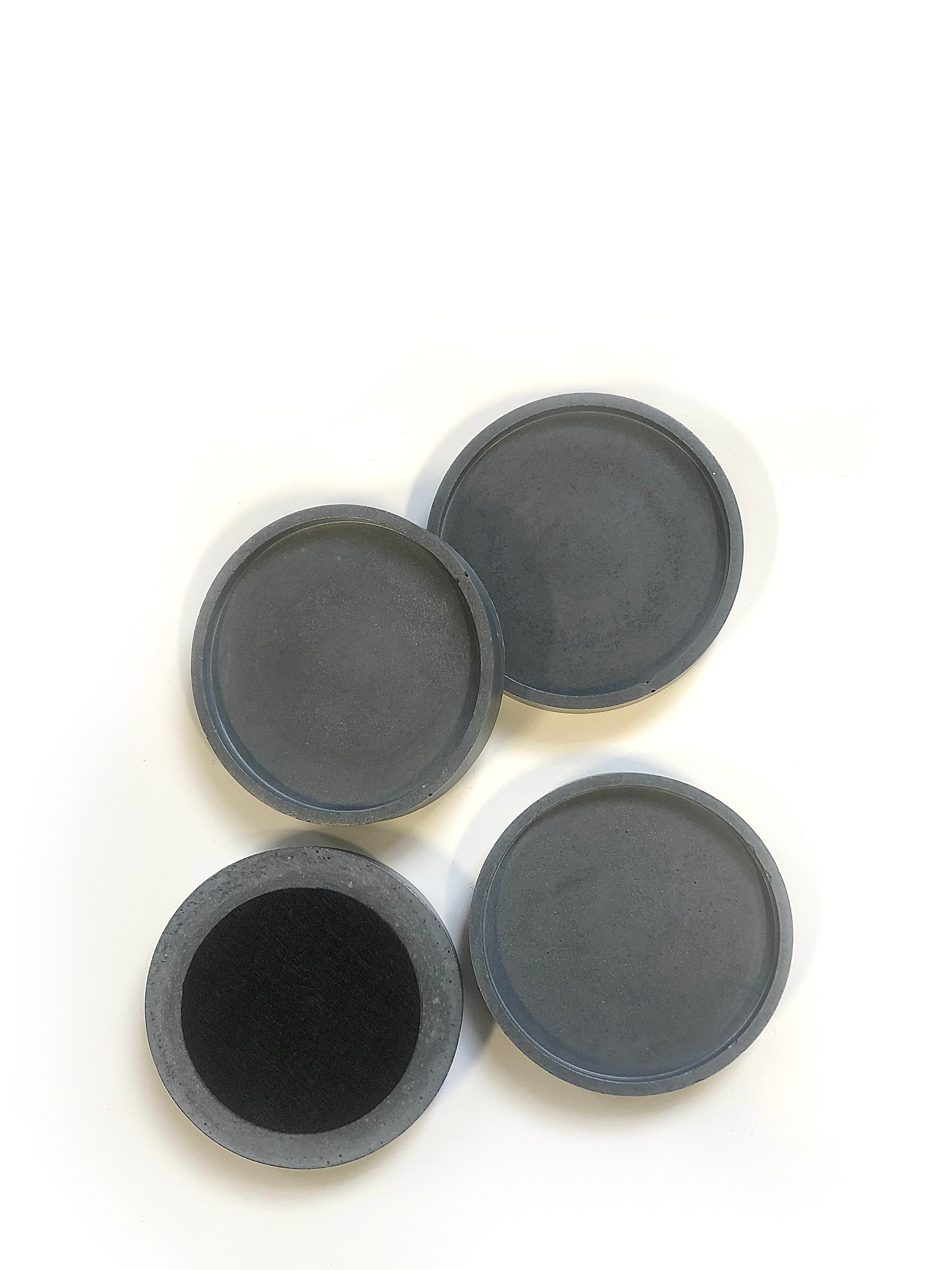 Round Coasters (set of 4) - Dark Charcoal