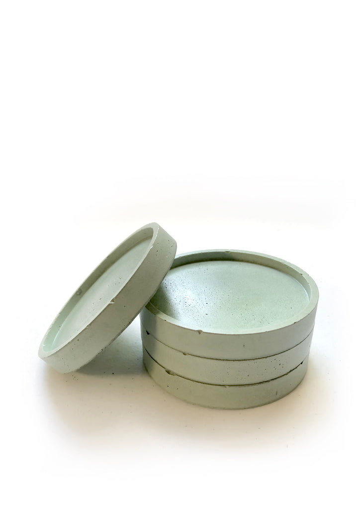 Round Coasters (set of 4) - Mint