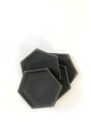 Geometric Coasters (set of 4) - Dark Charcoal