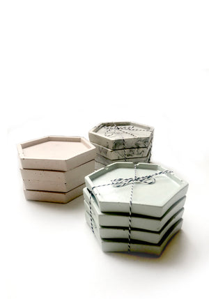 Geometric Coasters (set of 4) - Mint