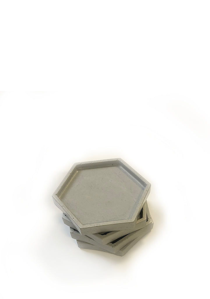 Geometric Coasters (set of 4) - Classic Grey