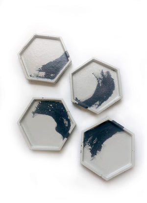 Geometric Coasters (set of 4) - Painted