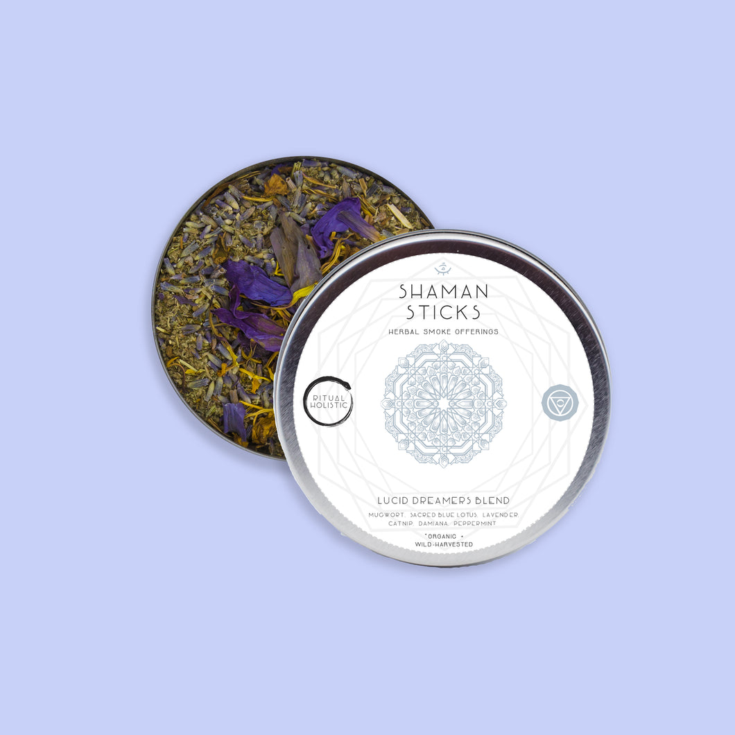 Lucid Dreamers Blend Tin {Loose Leaf} | Organic Herbal Smoke