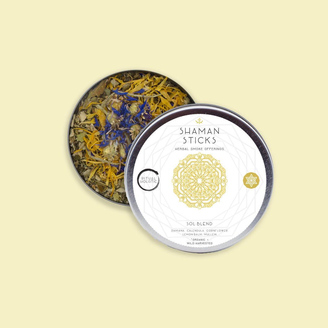 Sol Blend Tin {Loose Leaf} | Organic Herbal Smoke