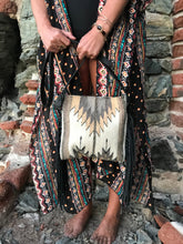 Load image into Gallery viewer, MZ Sierra Natural Chevrons Fringe Bag