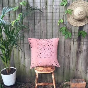 .PALE. 20x20 Mudcloth Cushion - Blush Pink